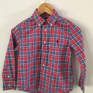Ralph Lauren Taylored shirt size 4T plaid